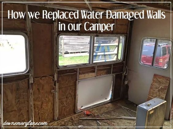 How To Replace Water Damaged Camper Walls Downemorylane Com