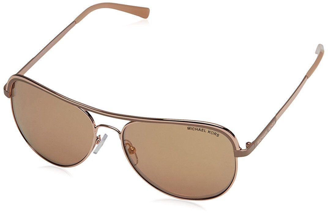 dbc7a38786 Michael Kors Women MK1012 58 VIVIANNA I Rose Gold Pink Sunglasses 58mm at  Amazon Men s