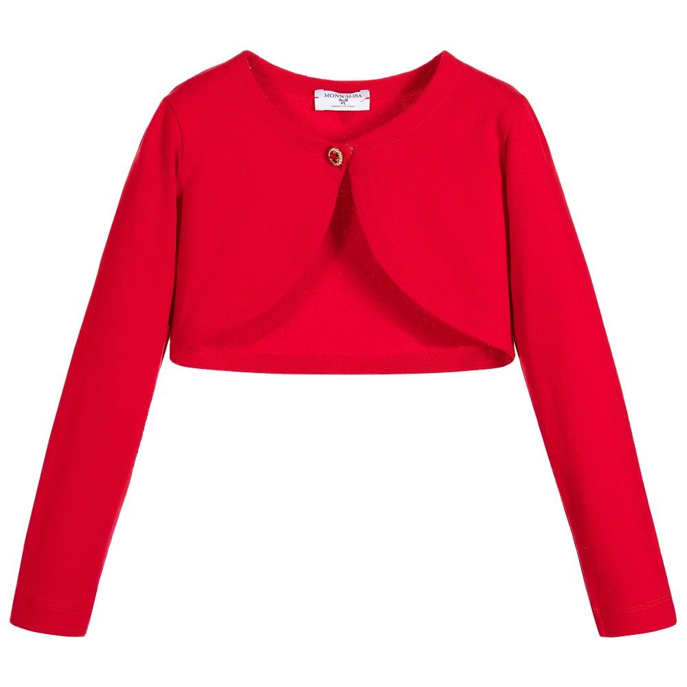 658518aa5239 Monnalisa Bimba - Girls Red Bolero Cardigan