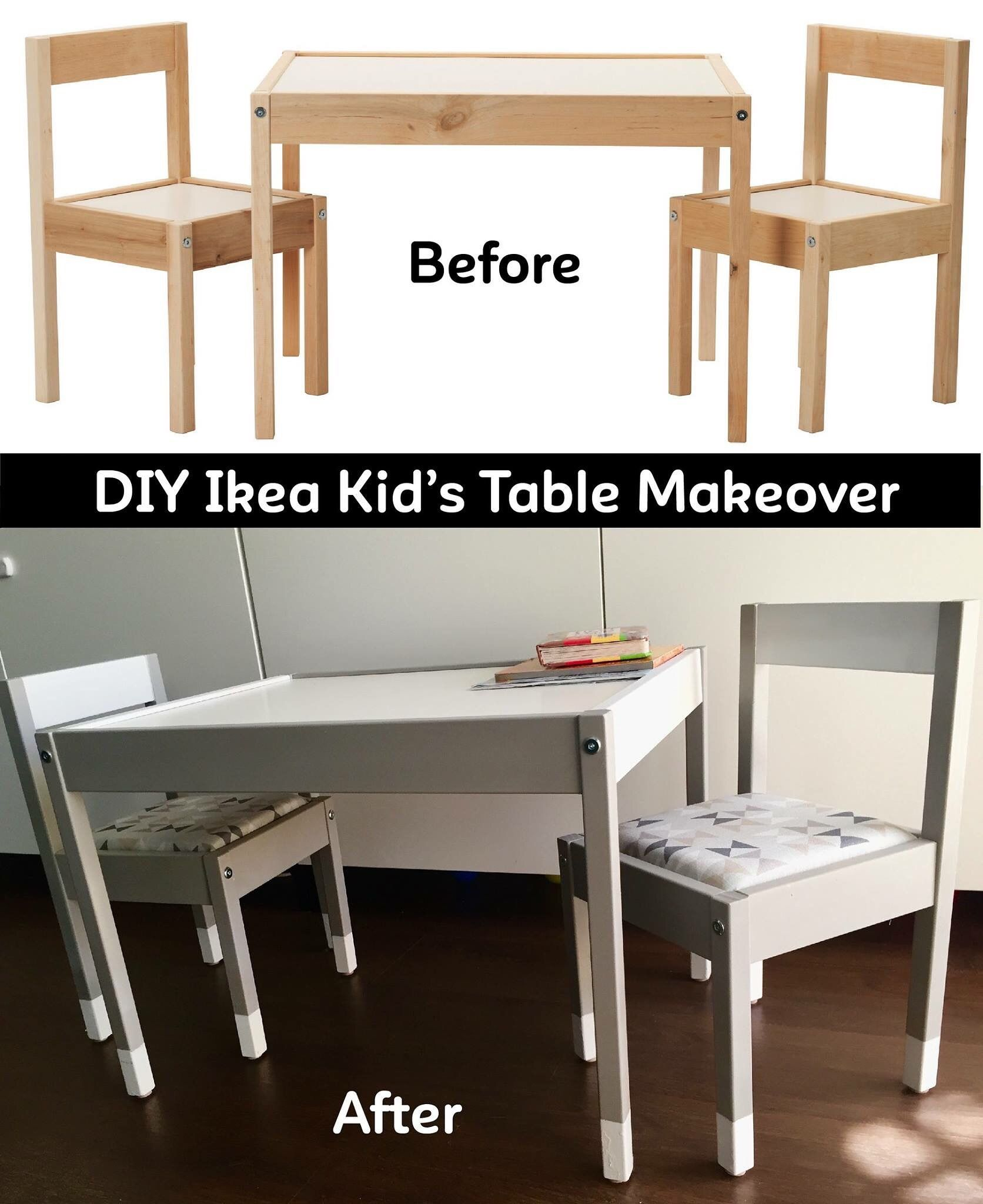 4cfc801e48f2 DIY Ikea Hack- Ikea Latt Makeover! Ikea Kids Table