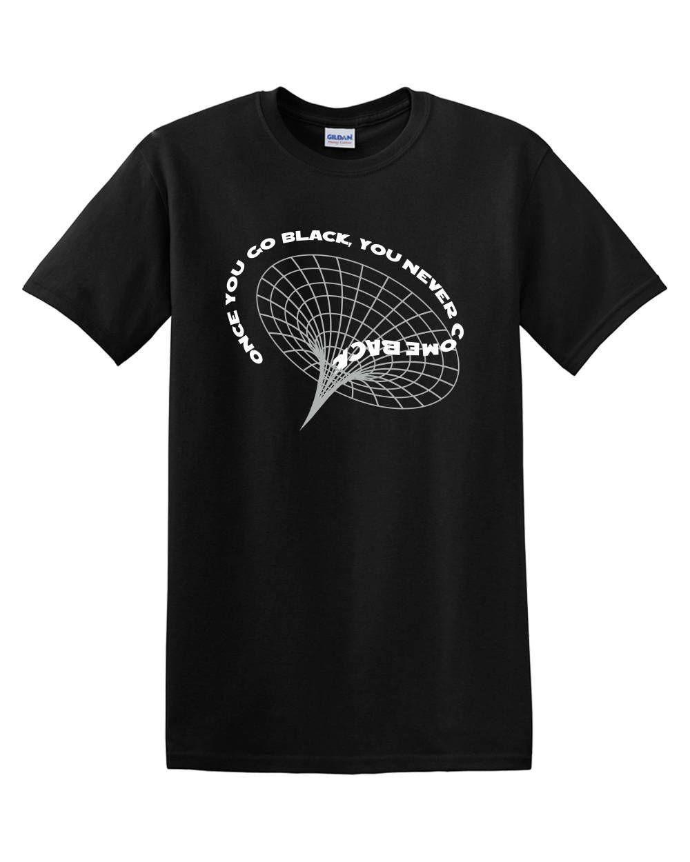 Black Hole Astronomy Adult Mens Tshirt Black Mens