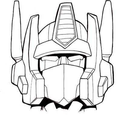 Transformers Drawing Optimus Prime Printable Transformers Artwork