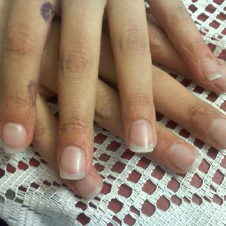 Natural Looking Acrylic Enhancements On My 12 Year Old Daughter Taylor Nail Enhancement Manicure Fun Nails