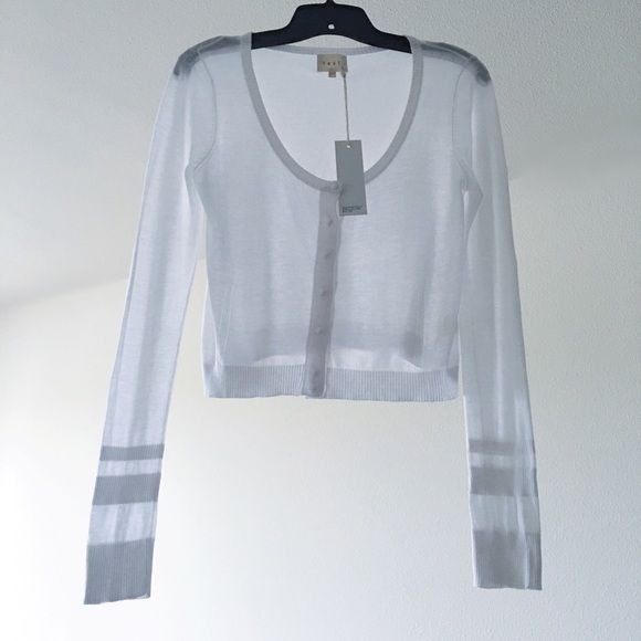 Shae White Sheer Cotton Crop Sweater Shae Sheer White Cotton Long ...