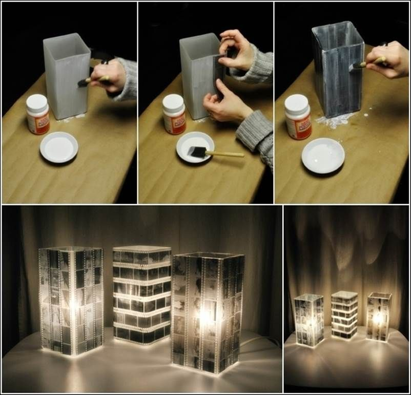 How to DIY Unique Lamp Shade Using Old Photo Negatives