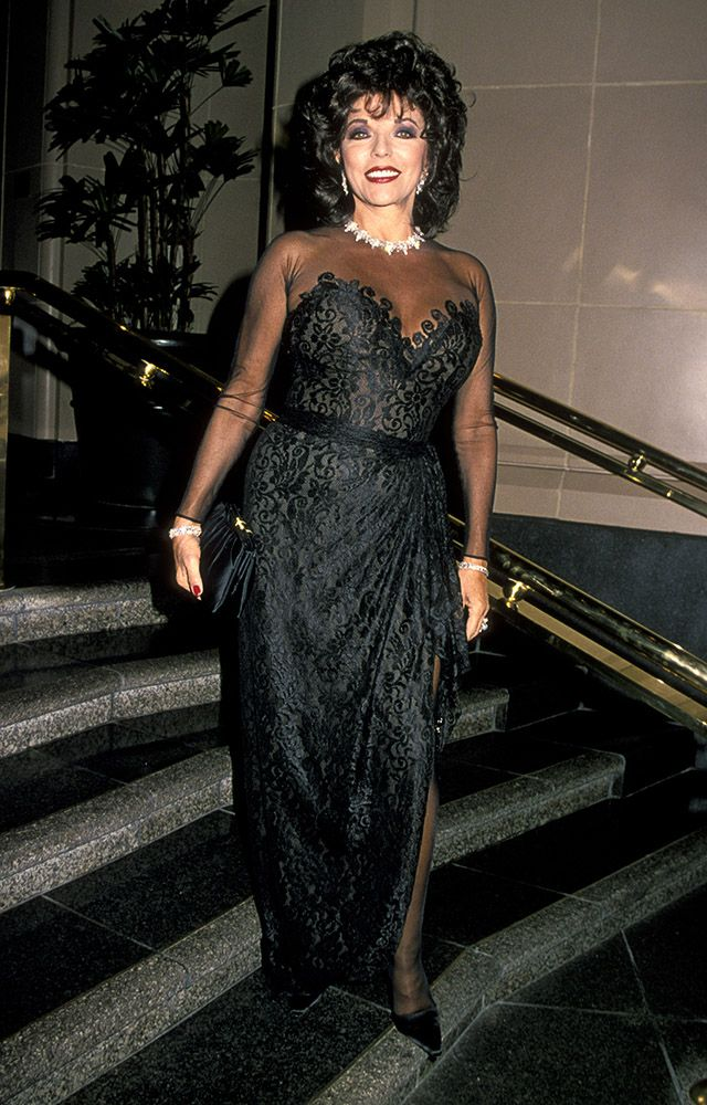 1994 October  More sheer for Joan, she wore this dress to the Beverly Wilshire Hotel.