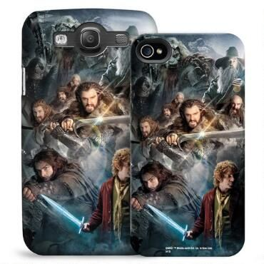 This phone case features Bilbo, Thorin Oakenshield and dwarves  poised for action, and will protect your iPhone of Galaxy in style