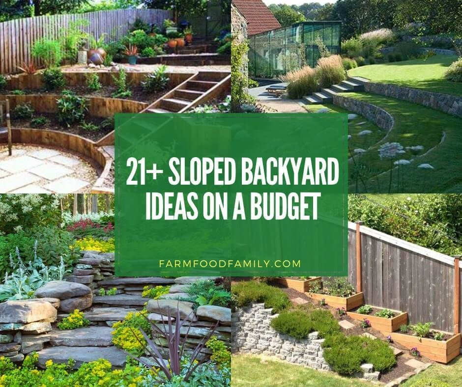 Planning The Slope Your Yard Is Difficult And Expensive But These 21 Hillside Landscaping Id Sloped Backyard Landscaping Sloped Backyard Backyard Landscaping
