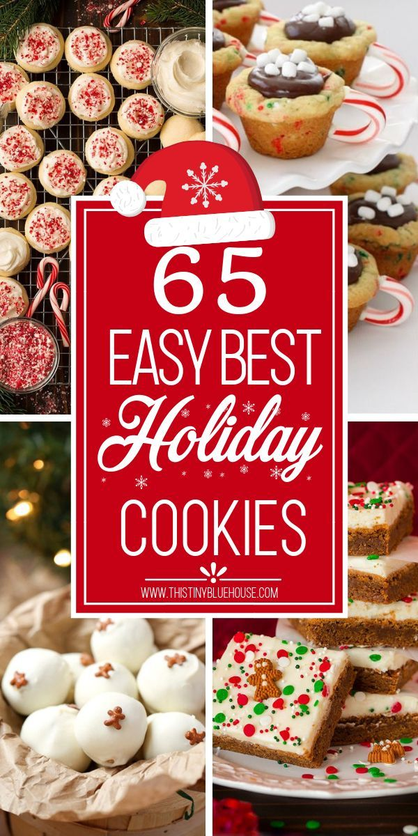 65 best delicious holiday cookie recipes #holidaytreats