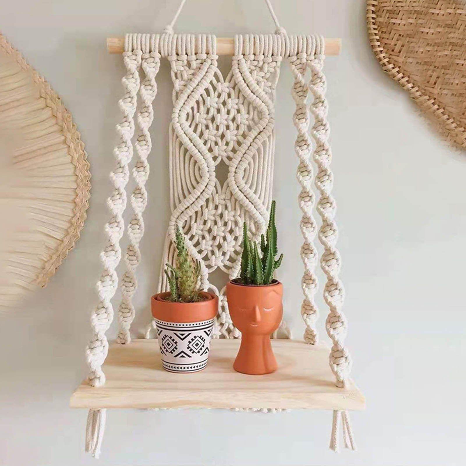 Bohemian Macramé Shelf