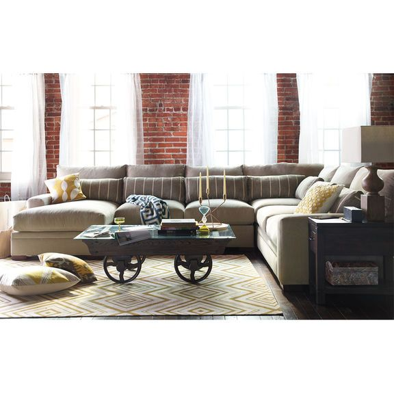 The Ventura Sectional Living Room Collection Value City Furniture White Furniture Living Room Value City Furniture Furniture
