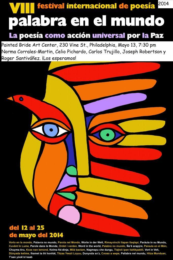 Poesía por la paz, en el Painted Bride Arts Center, en el centro de Philadelphia - martes, 13 de mayo, 2014.