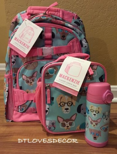 Backpacks 57917 New Pottery Barn Kids Cool Dogs Large Backpack Clic Lunchbox Water Bottle It Now Only 124 99 On Ebay