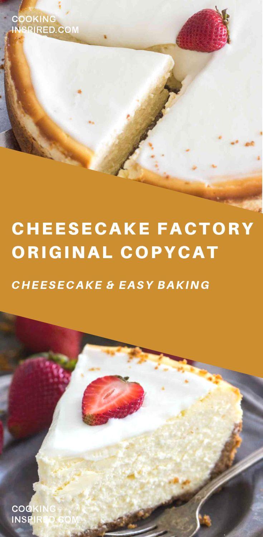 Cheesecake Factory Original Copycat Recipe Cheesecake Healthy Cake Recipes Original Cheesecake Recipe