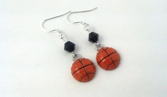 https://www.etsy.com/listing/189120656/basketball-earrings-sports-earrings  #basketball #sportsearrings