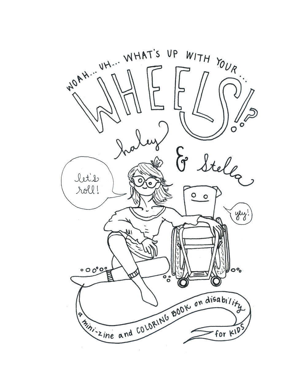 Free Wheels Downloadable Zine Coloring Book Haley Brown Coloring Books Zine Book Print