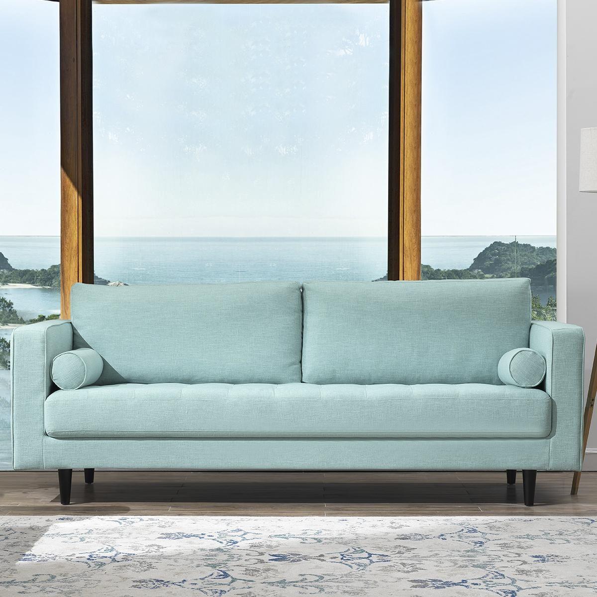 Arthur Tweed Sofa In Mint Green Blue