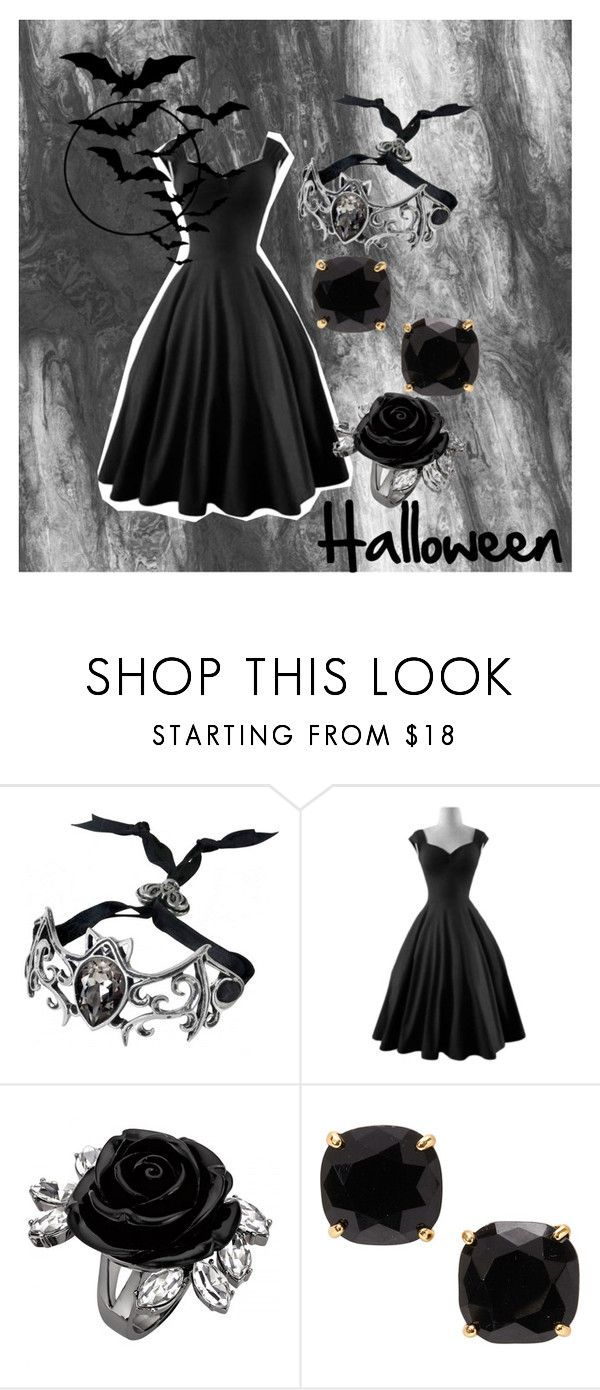 """""""Halloween Time!!!!!"""" by fangindiegirl on Polyvore featuring Kate Spade, Halloween, it, party and october"""