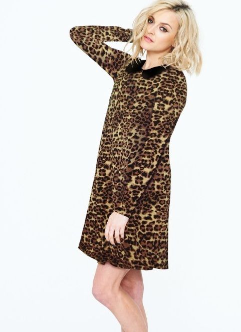 3a4cade22c Fearne Cotton leopard print dress with peter pan collar - and I got mine in  a goody bag (! )