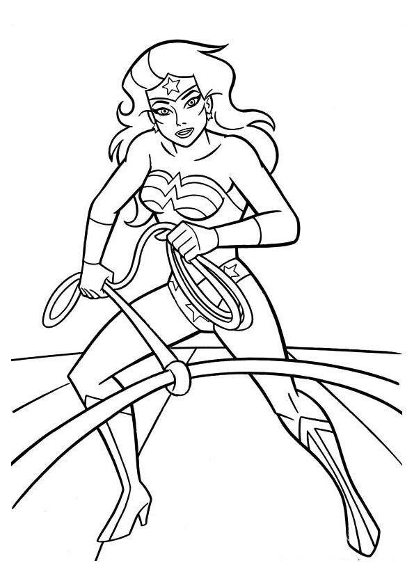 wonder-woman-coloring-page-5.png (595×842) | coloring sheets ...