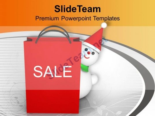 Christmas Gifts Winter Sale Isolated Celebration Paper Powerpoint - winter powerpoint template