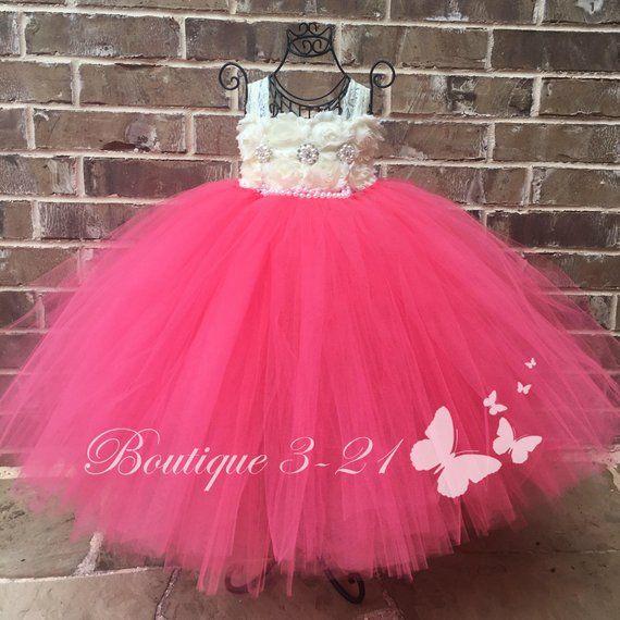 d859815f589 Coral Flower Girl Dress