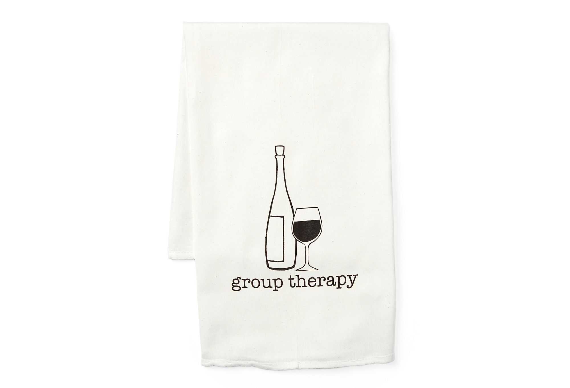 """One Kings Lane - Summer-Party Invites - S/2 """"group therapy"""" Tea Towels"""