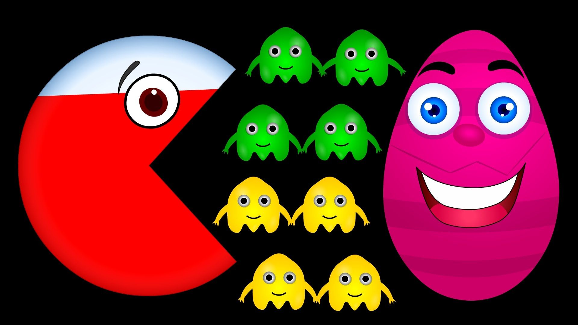 Learn Colors QUICKLY with Surprise Eggs Packman, Teach Children ...