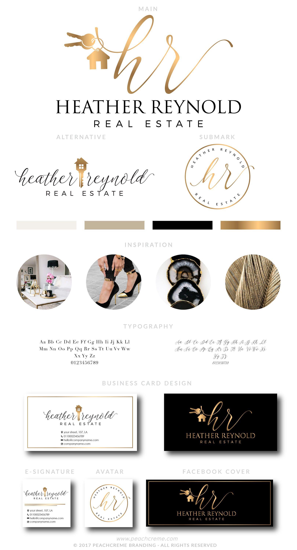 Heather Reynolds Kit Real estate logo design, Realtor
