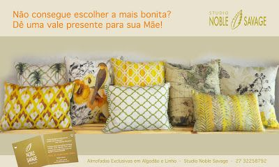 Almofadas / Brazilian Pillows  Creation by Studio Noble Savage. Made in Brazil
