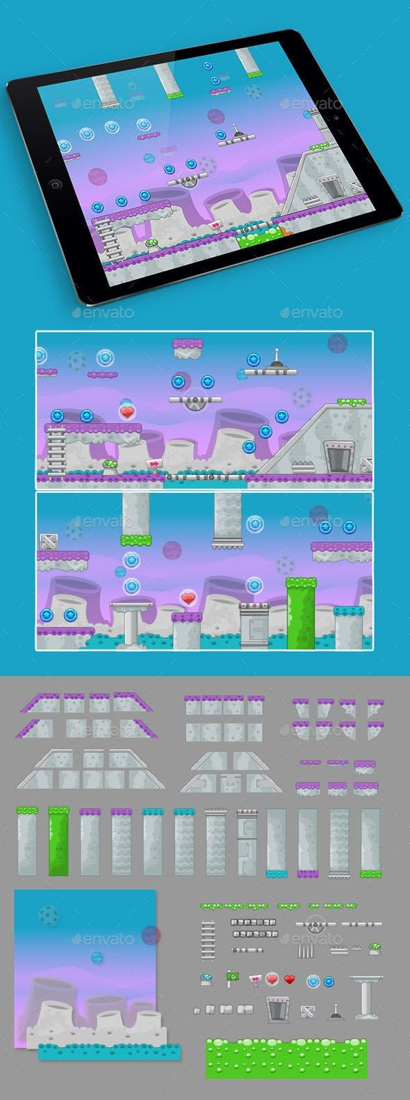 2D Spacial Game Platformer Tilesets in 2020 (With images