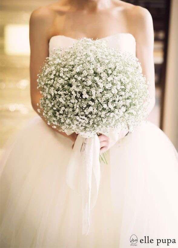 Pinterest Project Live Love Flowers Babys Breath Bouquet Wedding White Wedding Bouquets Babys Breath Wedding