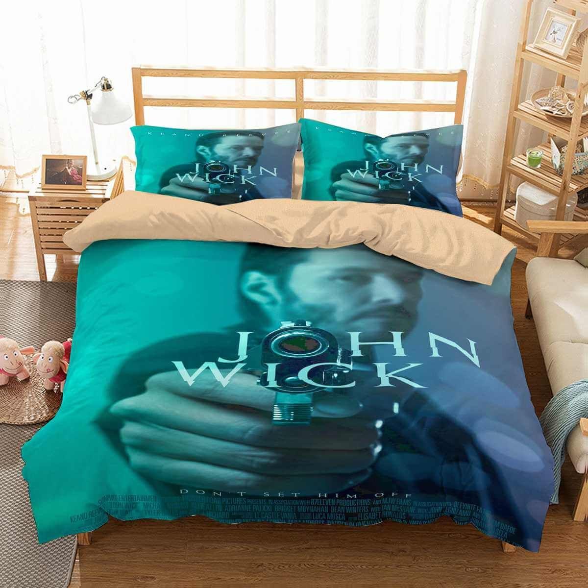 3d Customize John Wick Bedding Set Duvet Cover Set Bedroom Set Bedlinen Duvet Bedding Sets Duvet Cover Sets Bedroom Set
