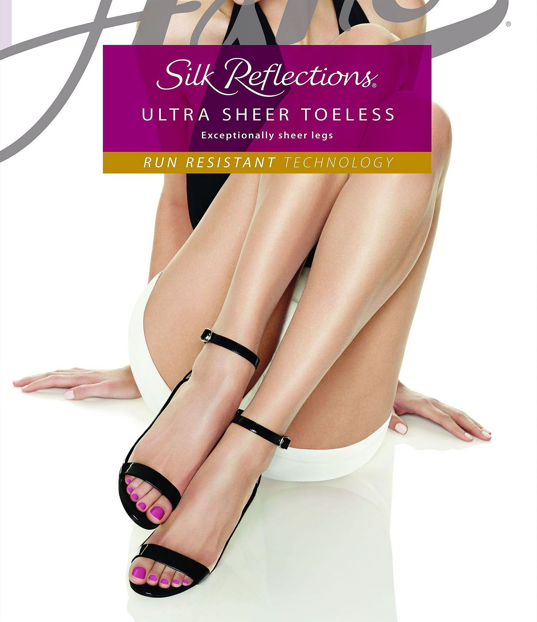 1-Pack Hanes Silk Reflections Ultra Sheer TOELESS Control Top Pantyhose