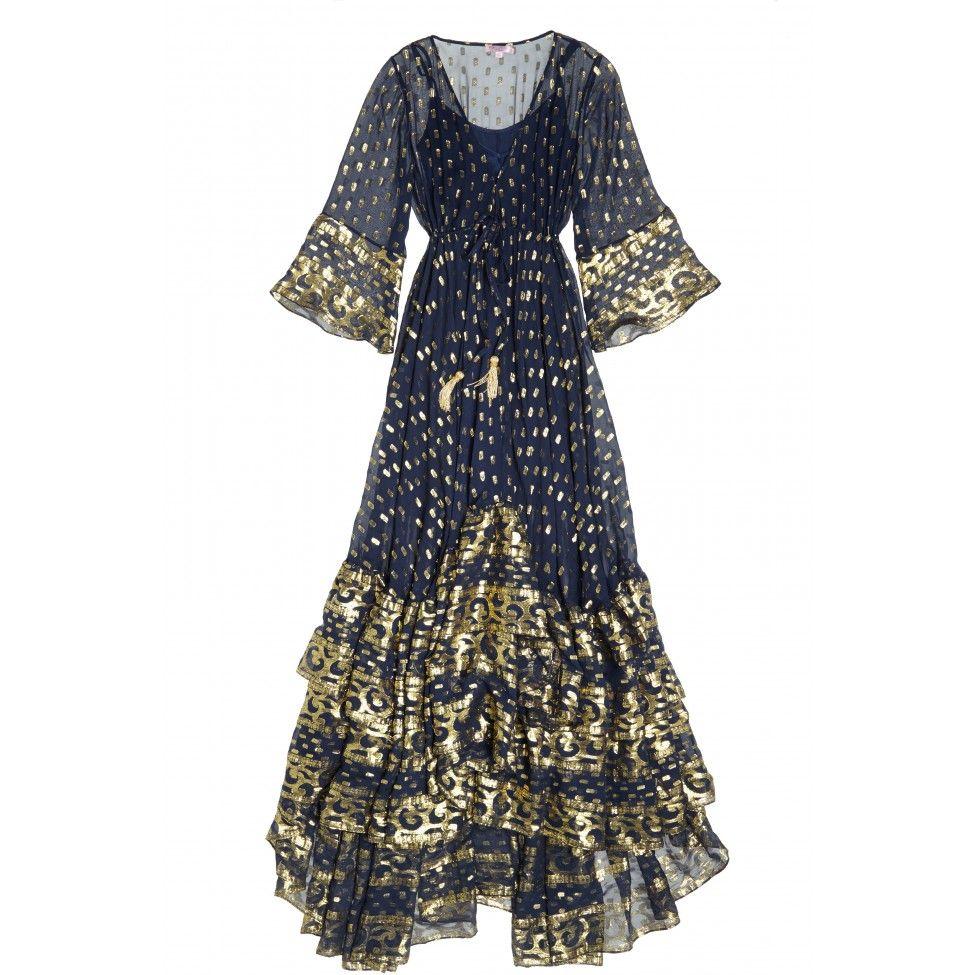 Sudari Metallic Jacquard Maxi Calypso St Barth Kimono Maxi Dress Clothes Design Maxi Dress With Sleeves