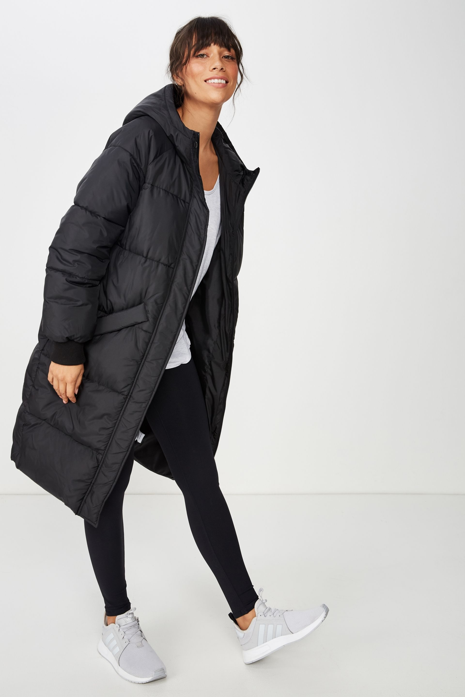Longline Active Puffer Jacket Puffer Jacket Women Fashion Womens Lifestyle Fashion [ 2880 x 1920 Pixel ]
