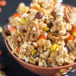 Peanut Butter Popcorn Party Mix