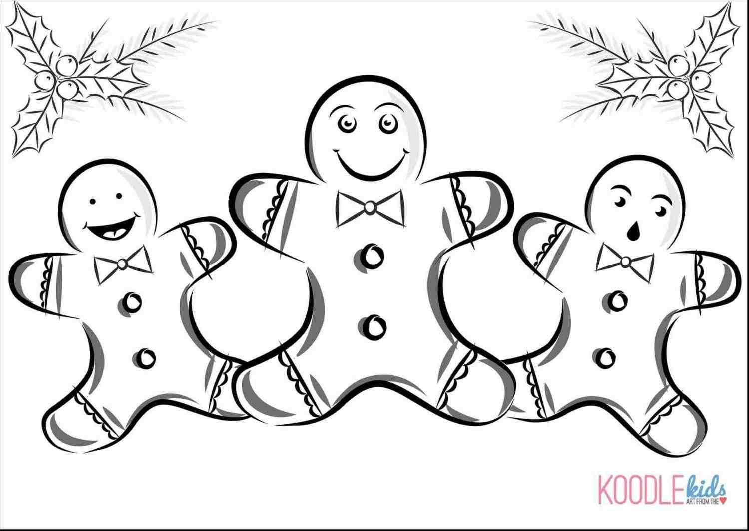 Christmas Gingerbread Girl Coloring Pages With Images