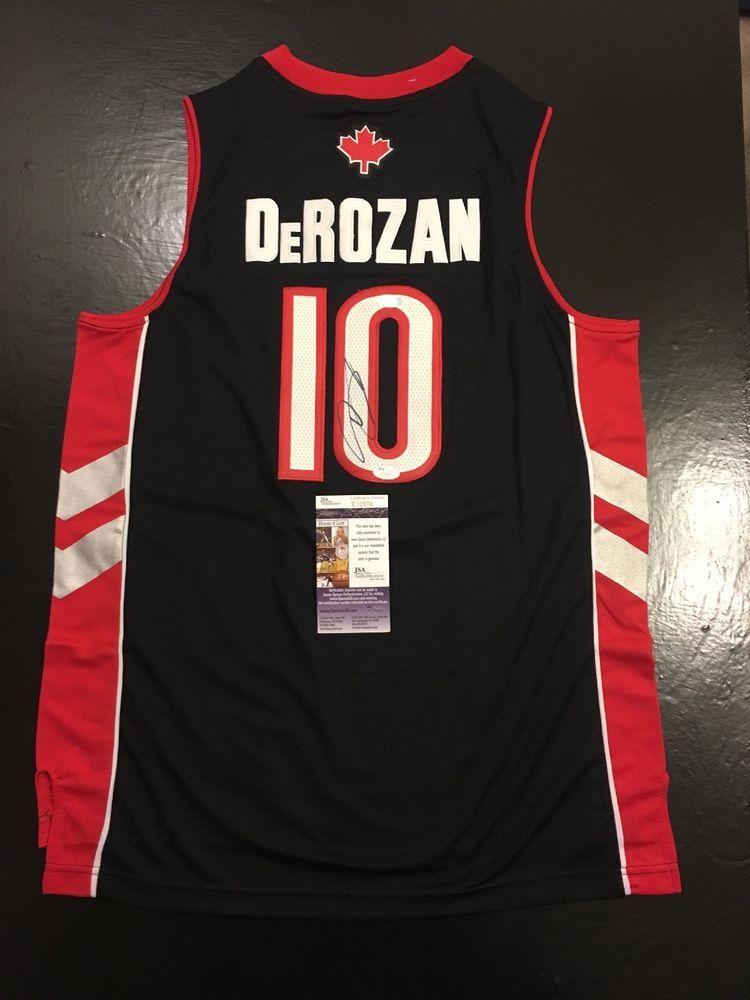 ce2a8a2d81e Demar Derozan Raptors Spurs Auto Autographed Sz XL Basketball Jersey JSA  Cert (eBay Link)