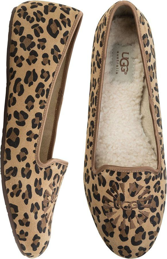 6a986957148 Ugg Alloway Leopard Smoking Slipper | Shoes, Shoes, Shoes. I love ...