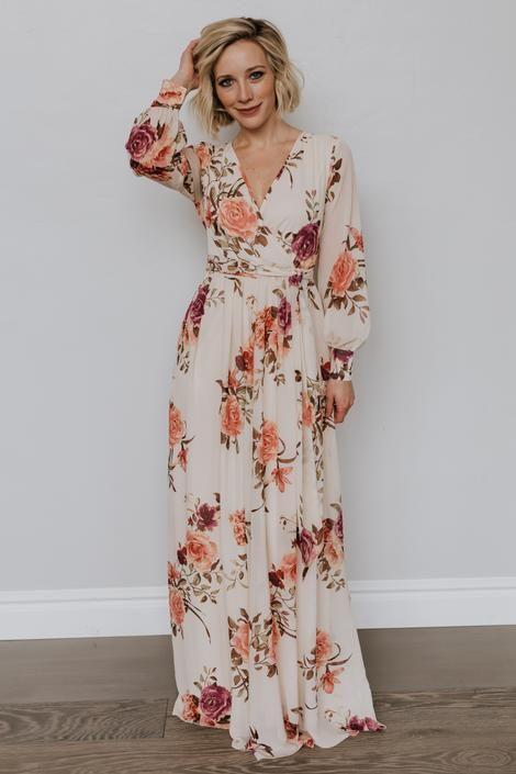Lydia Maxi Dress in Pink -   18 dress Maxi floral ideas