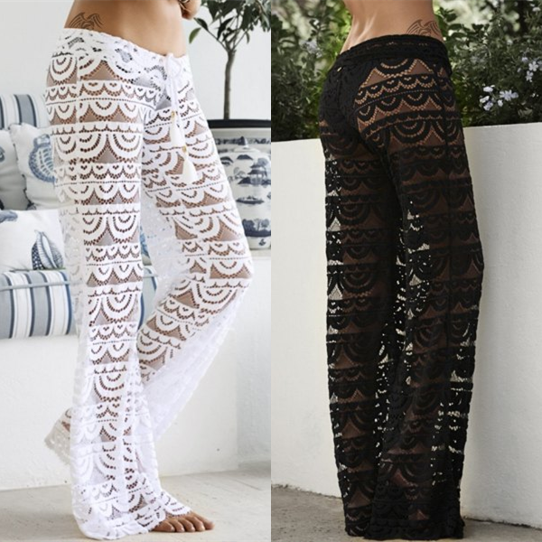 c1e64008f2 So cute! Black and White Lace, See Through Pants | CuteOutfits<3 in ...