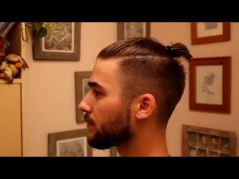 Modern Pompadour Mens Hairstyle Tutorial Mister Pompadour Pomade Youtube Man Bun Hairstyles Curly Afro Hair Man Bun Top Knot
