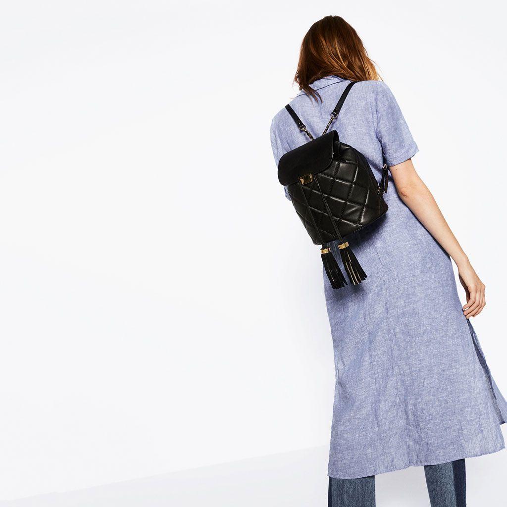 QUILTED TASSEL BACKPACK-View all-BAGS-WOMAN | ZARA United Kingdom ... : quilted rucksack zara - Adamdwight.com