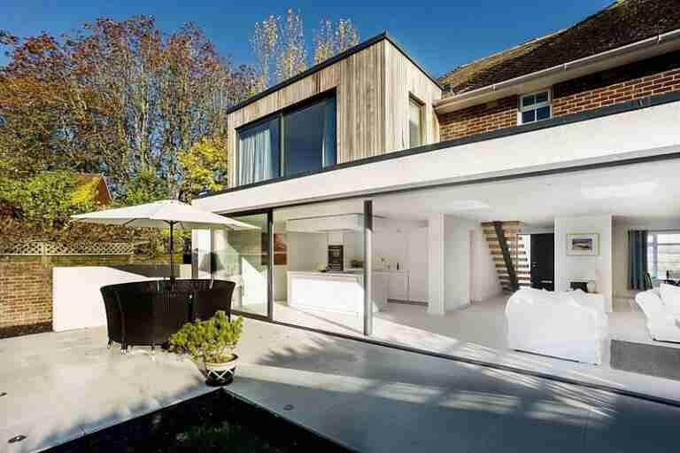 Contemporary Two Storey Extension The Beckett House By Adam Knibb Architects House Extension Design House Extensions Modern Extension
