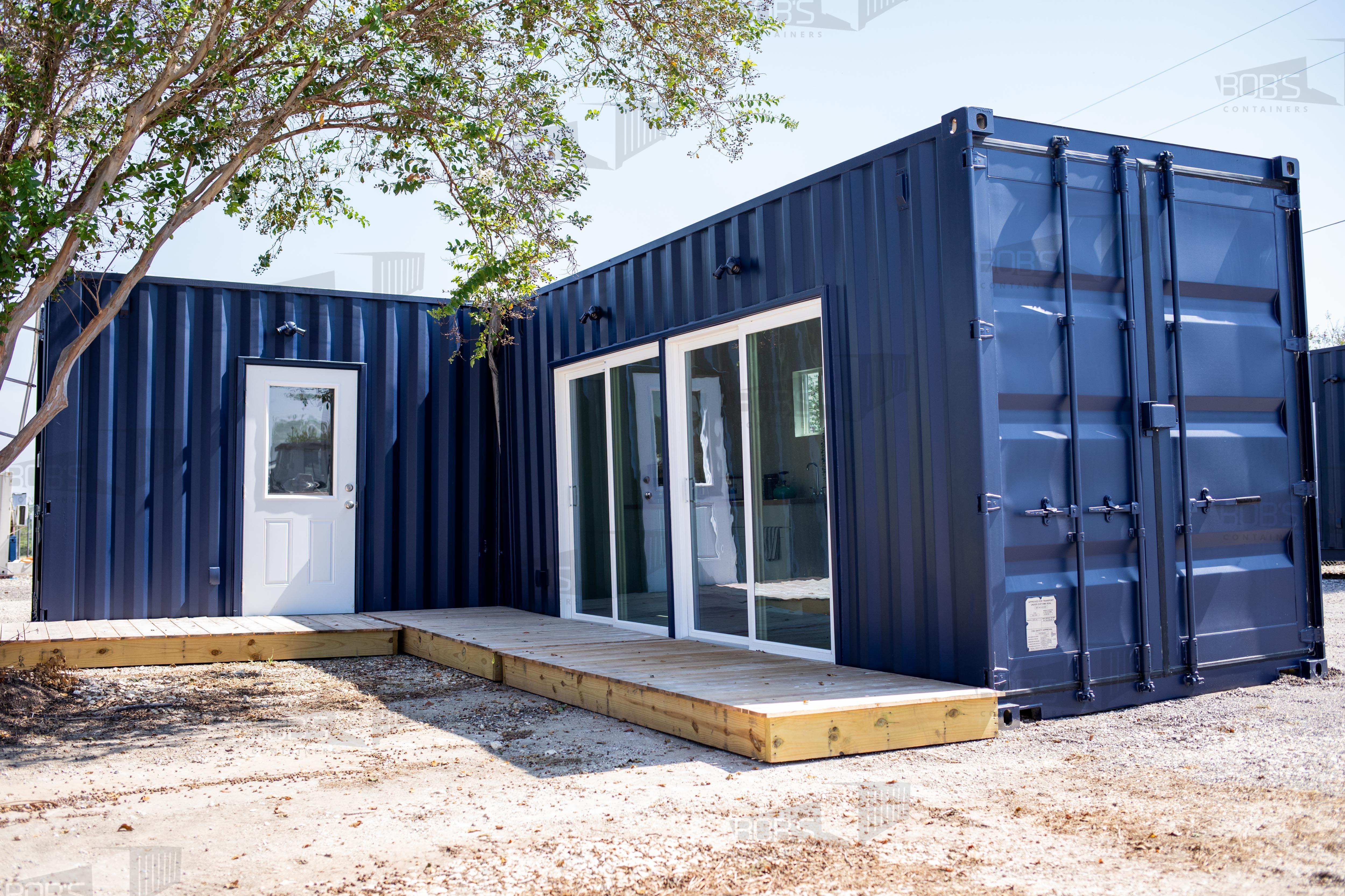 L-Shape Multi-unit Container Home - The Lubbock Model - Shiplap / No Rooftop Views :( / Tile Shower