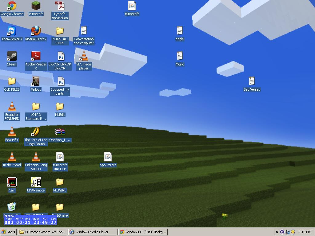 """Windows XP \""""Bliss\"""" Desktop Background Recreated in"""