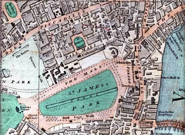 The Mall London Map.The Site Of Carlton House On The 1809 Map By Smith New Map Of