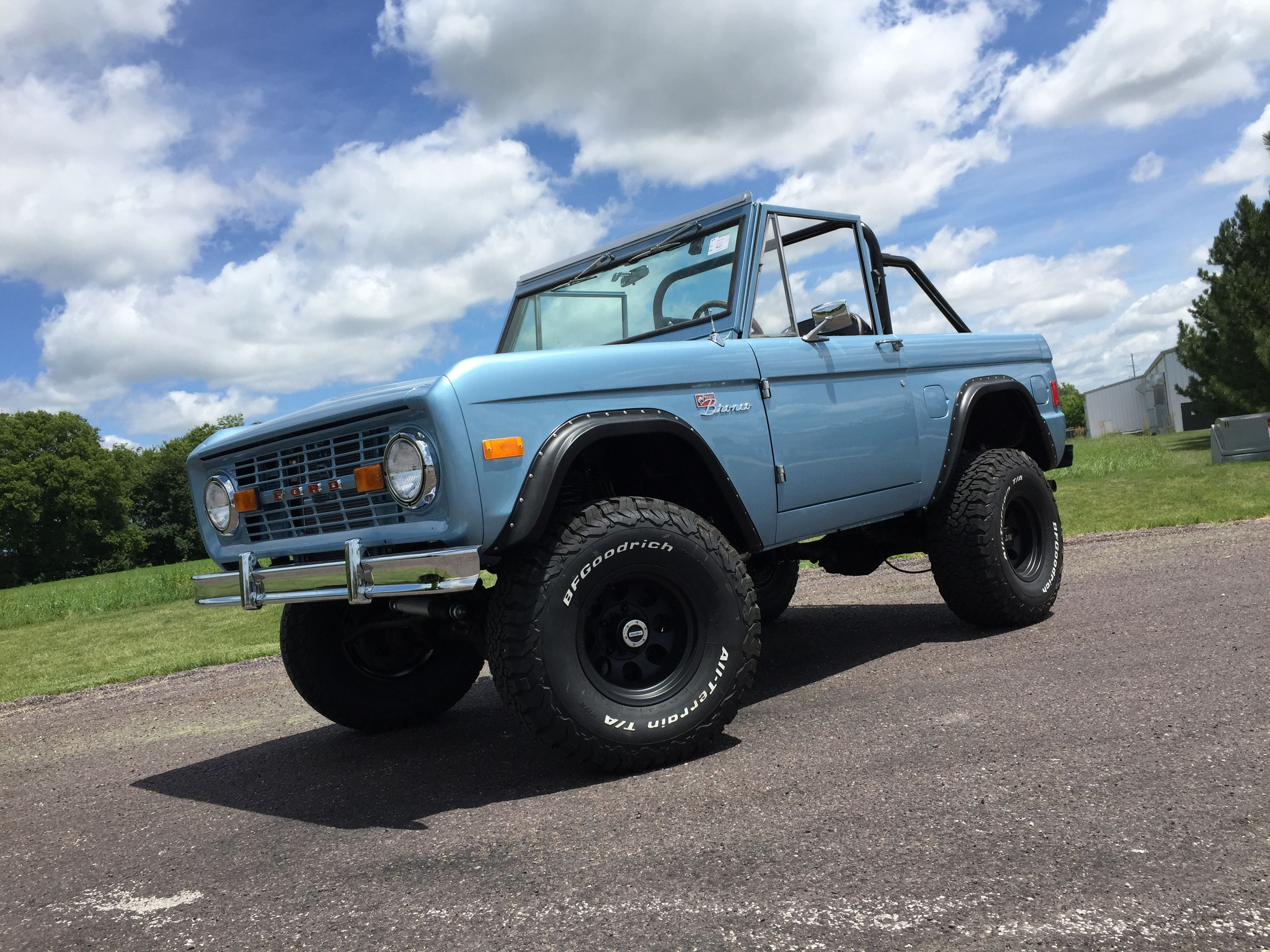 1977 ford bronco brittany blue kick ass cars trucks 1977 ford bronco brittany blue frame off restoration blueprint engines 347 stroker automatic transmission power steering power disc brakes malvernweather Images
