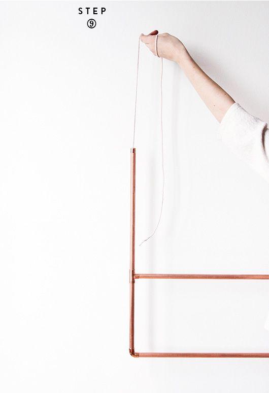 diy copper clothing rack — sfgirlbybay